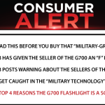 "BUYER BEWARE! READ THIS BEFORE YOU BUY THAT ""MILITARY-GRADE"" FLASHLIGHT!"
