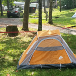 No poles?  No problem!  How to Pitch a Tent Without Poles