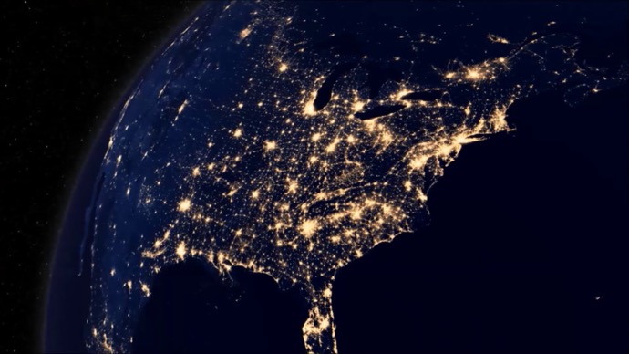 Image result for power outage as seen from space